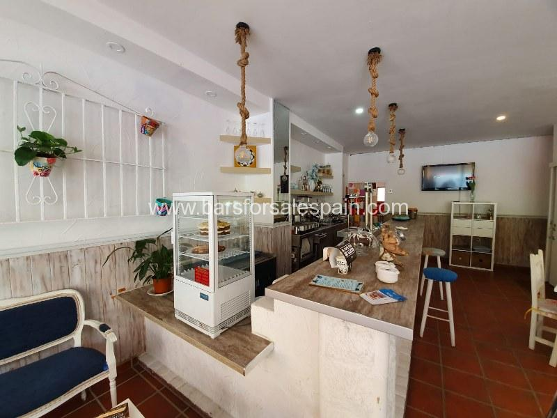 Nice and cozy cafe bar in Fuengirola , Costa del Sol , Spain